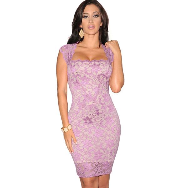 ML18479 Fashionable Mini Sexy Bandage Women Lace Dress