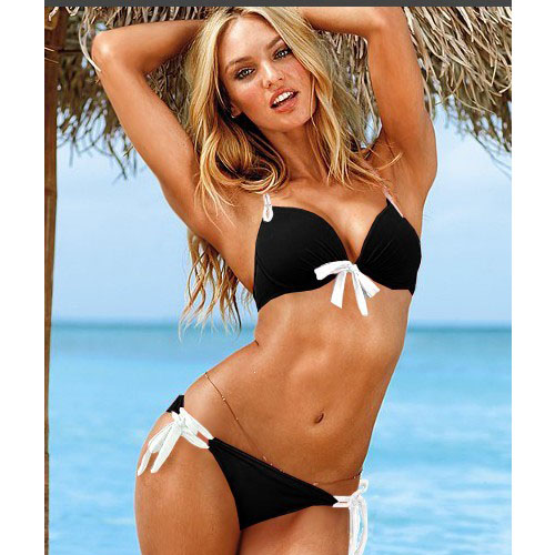 New style noble unique design hot triangle swimsuit black comfortable babydoll