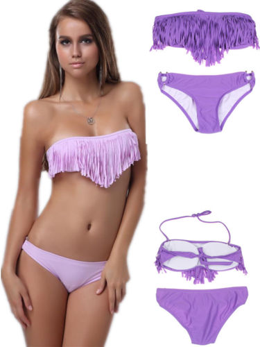 ML37094 Purple Fringe Swimwear