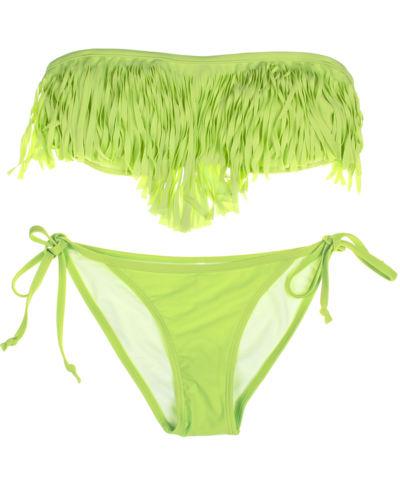ML37095 Newest Green Fringe Beachwear