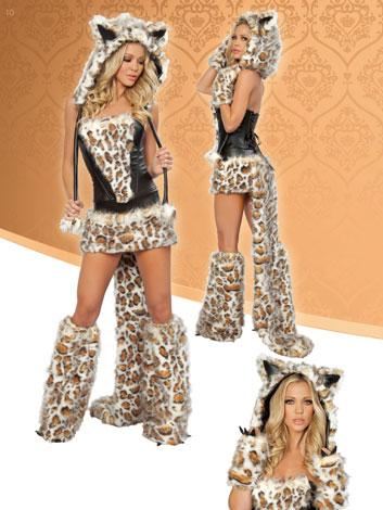 Sexy Leopard Wolf Cat Halloween Fancy Dress Costumes