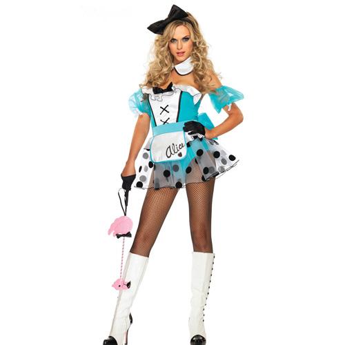 4Pc Sexy Bad Girl Costume ( Headdress + Neckband + Armband + Skirt ) ML5036