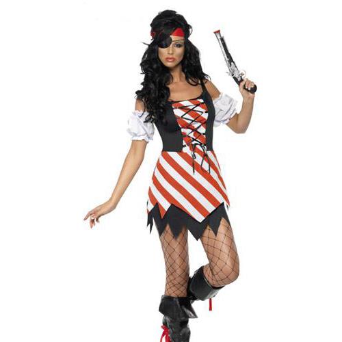 Fever Striped Pirate Costume