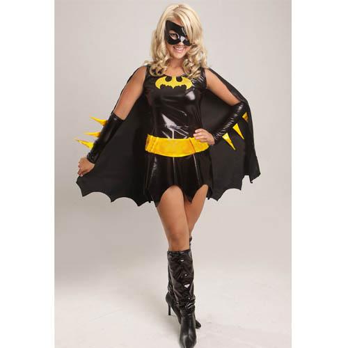 Batgirl Superhero Fancy Dress Costume