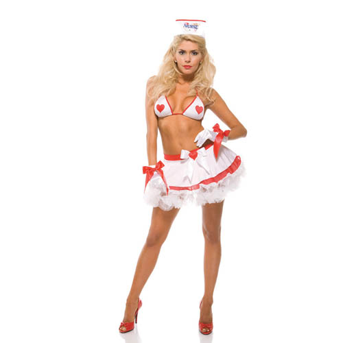 2013 5PC Sexy Nurse Costume Doctor Costumes Halloween Dress Nurse White Lingerie Set Ladies Nurse Uniform