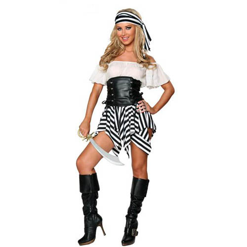 Hot Sell High Quality Sexy Pirate Cosplay Fasion Pirate Clothes Halloween Costume Cosplay Wear ML5228