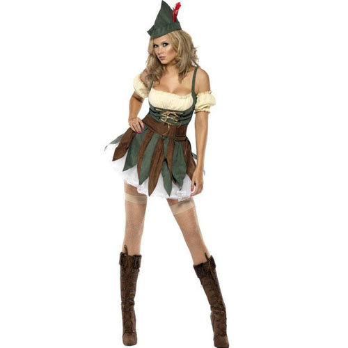 ML5272 Sexy Ladies Outlaw Robin Hood Fancy Dress Costume