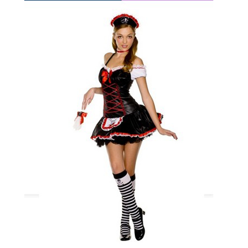 Sexy Fancy Dress French Maid Costume