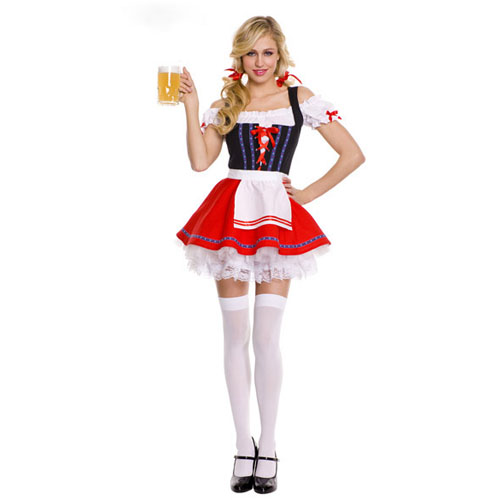 ML5421 Hot sale Beer Wench adult Costume for halloween party