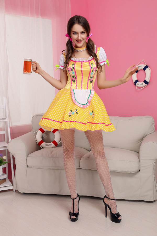 ML5427 Bright Dirndl Beer Girl Costume