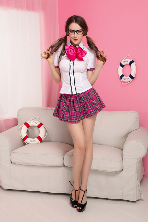 ML5438 Scotland Grid Pattern School Gril Uniform