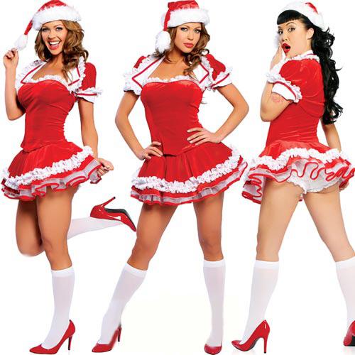 Reindeer Pretty santa girl Christmas costume
