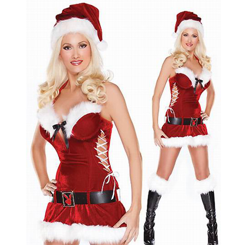 2013 wholesale Velvet+Spandex fashion sexy Christmas Costumes
