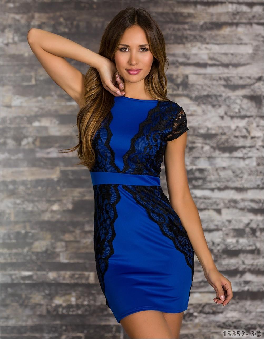 Платье Черное С Синим Доставка