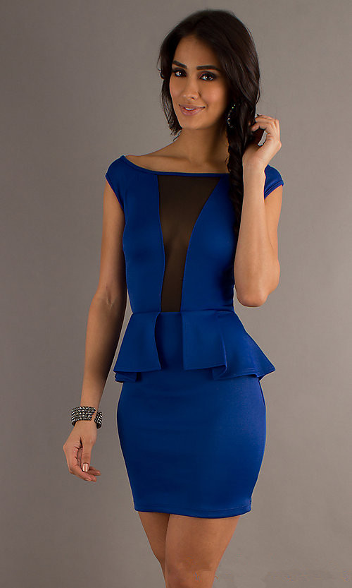 New Arrival Sleeveless Sexy Neckline Bodycon dress