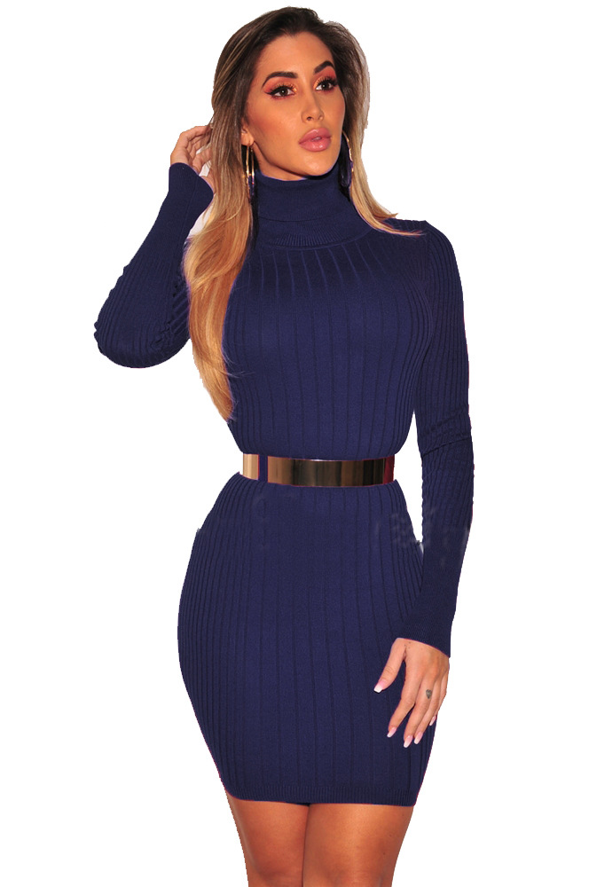 ML20479 Elegant Women Sheath Winter Dress