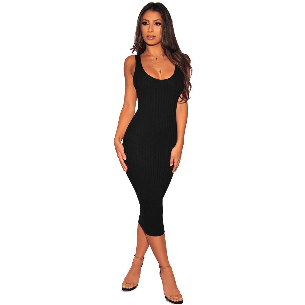 ML21328 Sexy Women Sleeveless Bodycon Autumn Pencil Dress