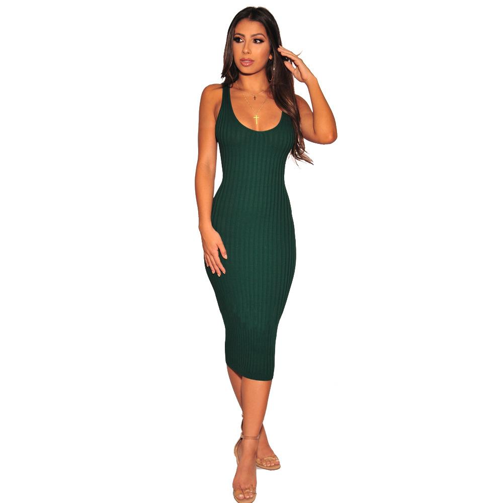 ML21329 Sexy Women Sleeveless Bodycon Autumn Pencil Dress