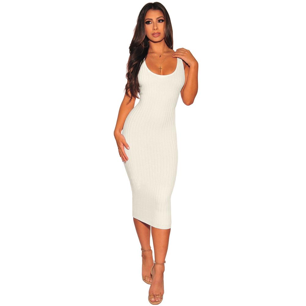 ML21331 Sexy Women Sleeveless Bodycon Autumn Pencil Dress