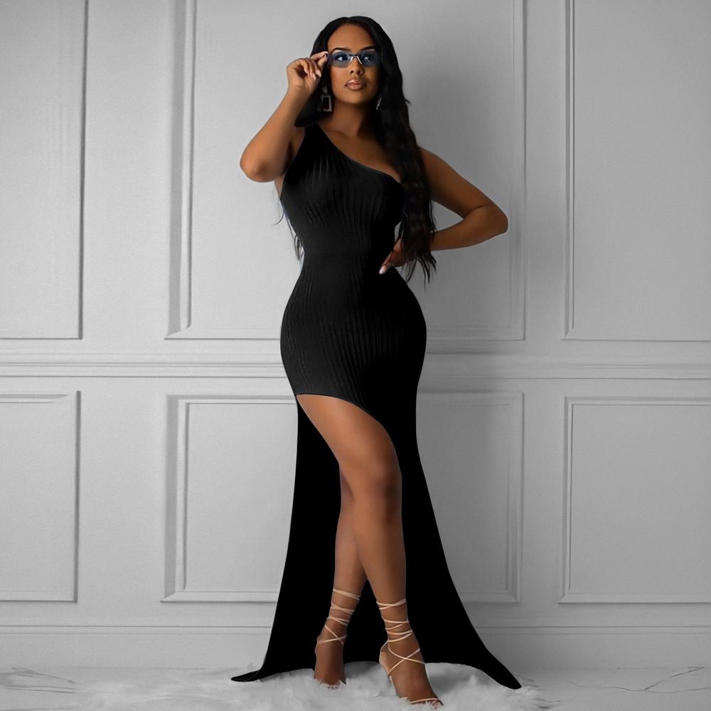 ML22259 Sexy Women One Shoulder Bodycon Long Party Dress