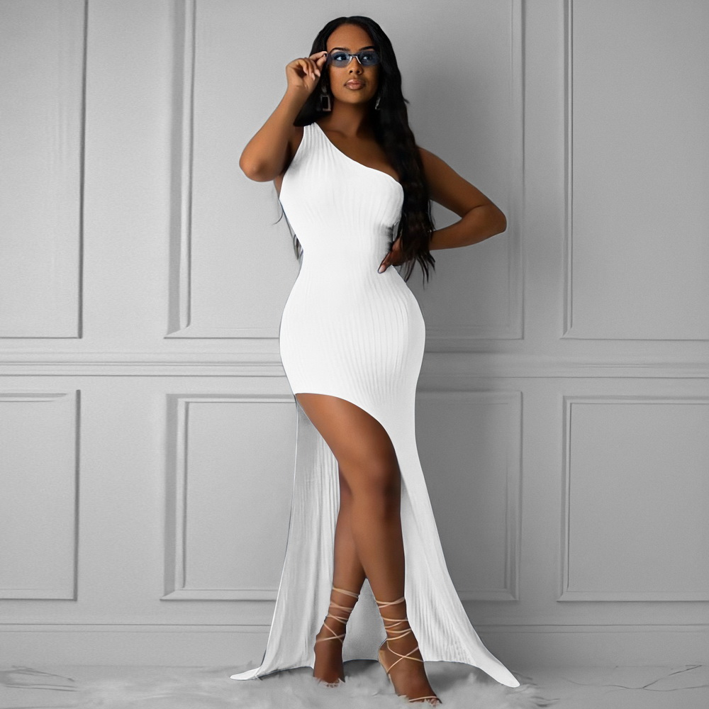 ML22256 Sexy Women One Shoulder Bodycon Long Party Dress