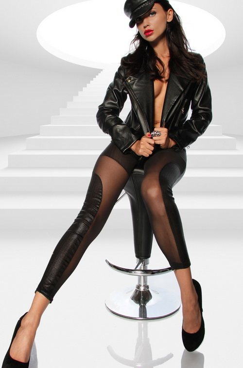 ML7644 2014 New Arrival leggings schwarz, Ausqefallene Leggings, Metallic Leggings