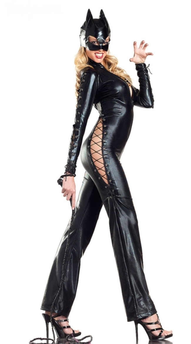 2014 New Arrival ML9024 Sexy Cat Jumpsuit