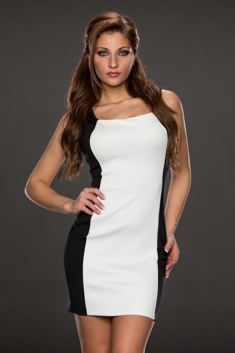 ML17992 2014 Summer Top Selling Special Backline Design White Mini Dress