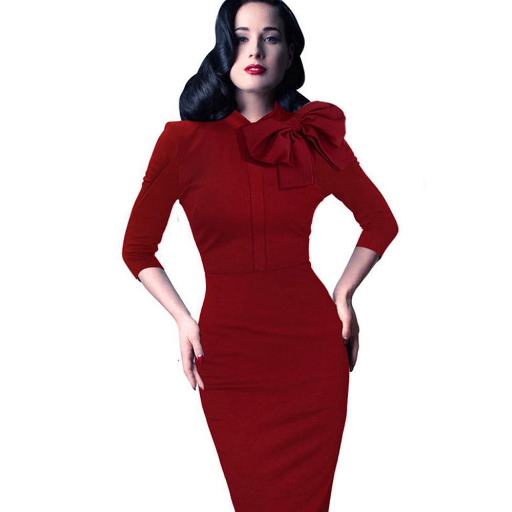 ML18678 Elegant Sexy Bandage Red Half Sleeves Dresses