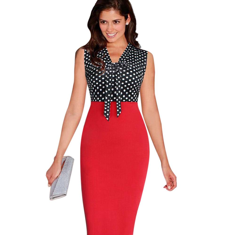 ML18710 Sexy Patchwork Women Sleeves Dress