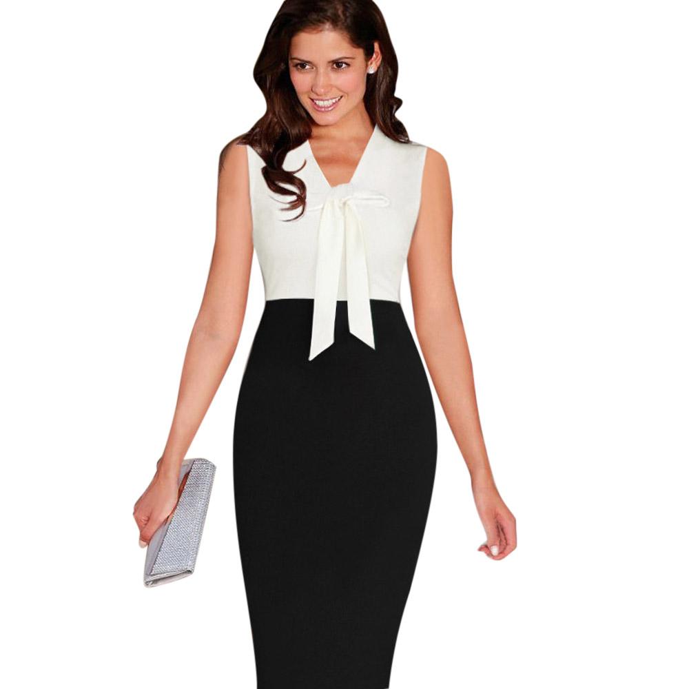 ML18711 Sexy Office Lady Bandage Work Dress
