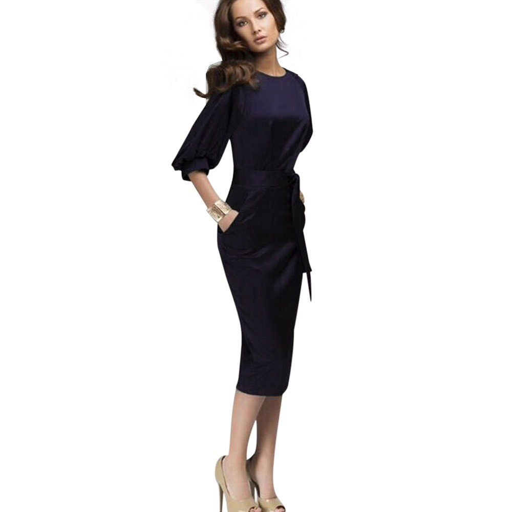 ML18763 Sexy Mid Calf Elegant lady Bandage Dresses