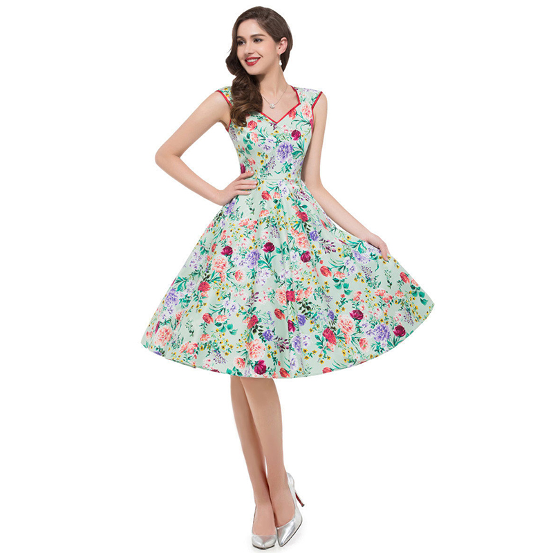 ML18824 Sexy Summer Floral Party Dress