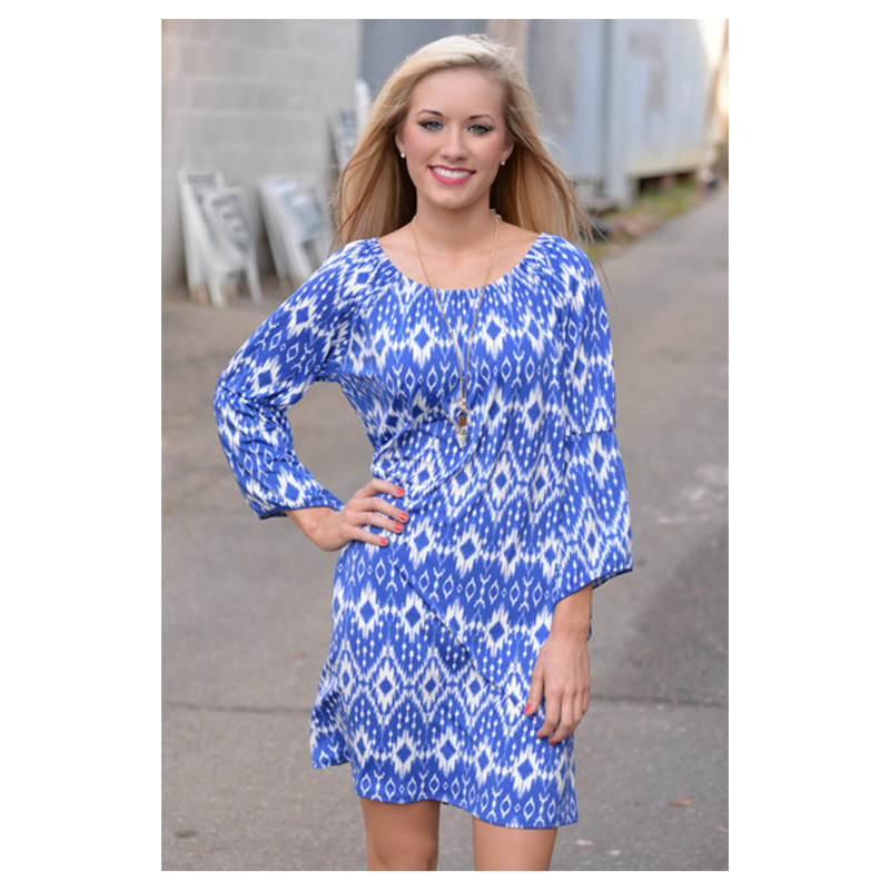 ML18882 Fashion Style Flower Printed Summer New Dresses