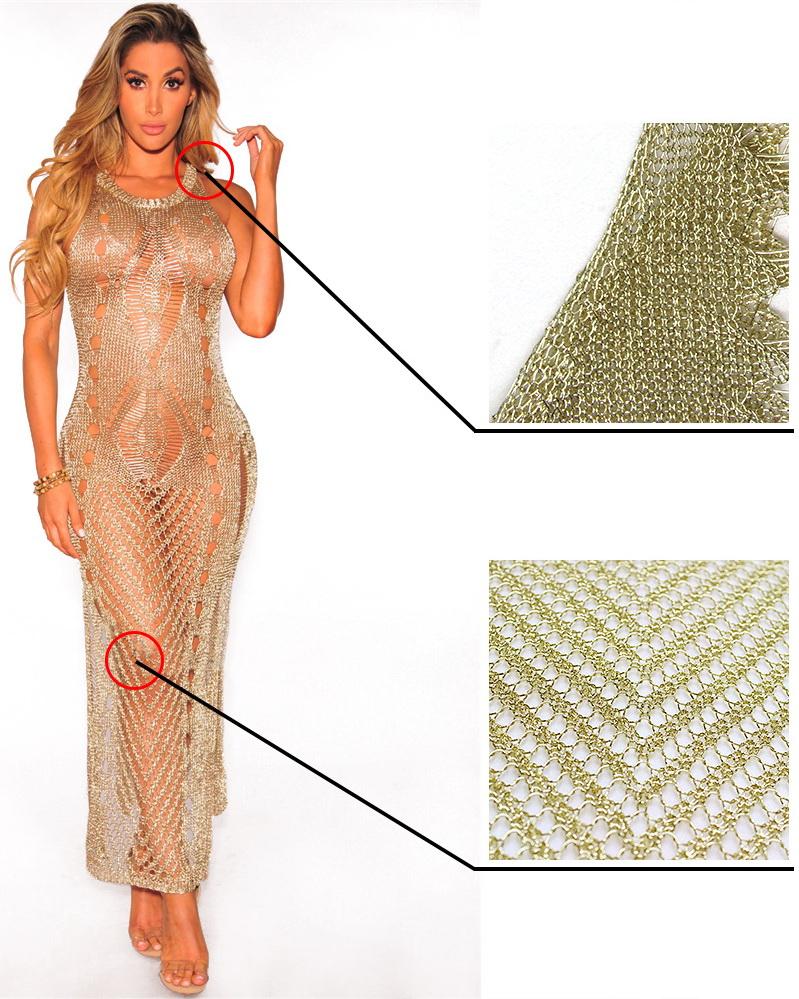 ML22928 Sexy Women O-neck Sleeveless Elegant Beach Dress
