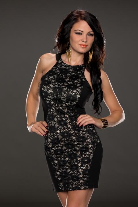 ML18087 2014 Round Neck Sleeveless Slim Party Dress