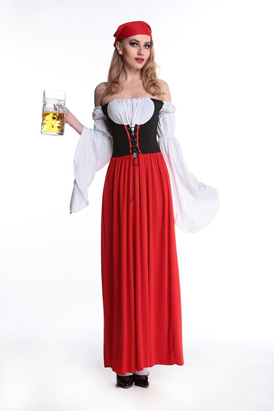 ML5478 Fashion Halloween Beer Girl Servant Costumes