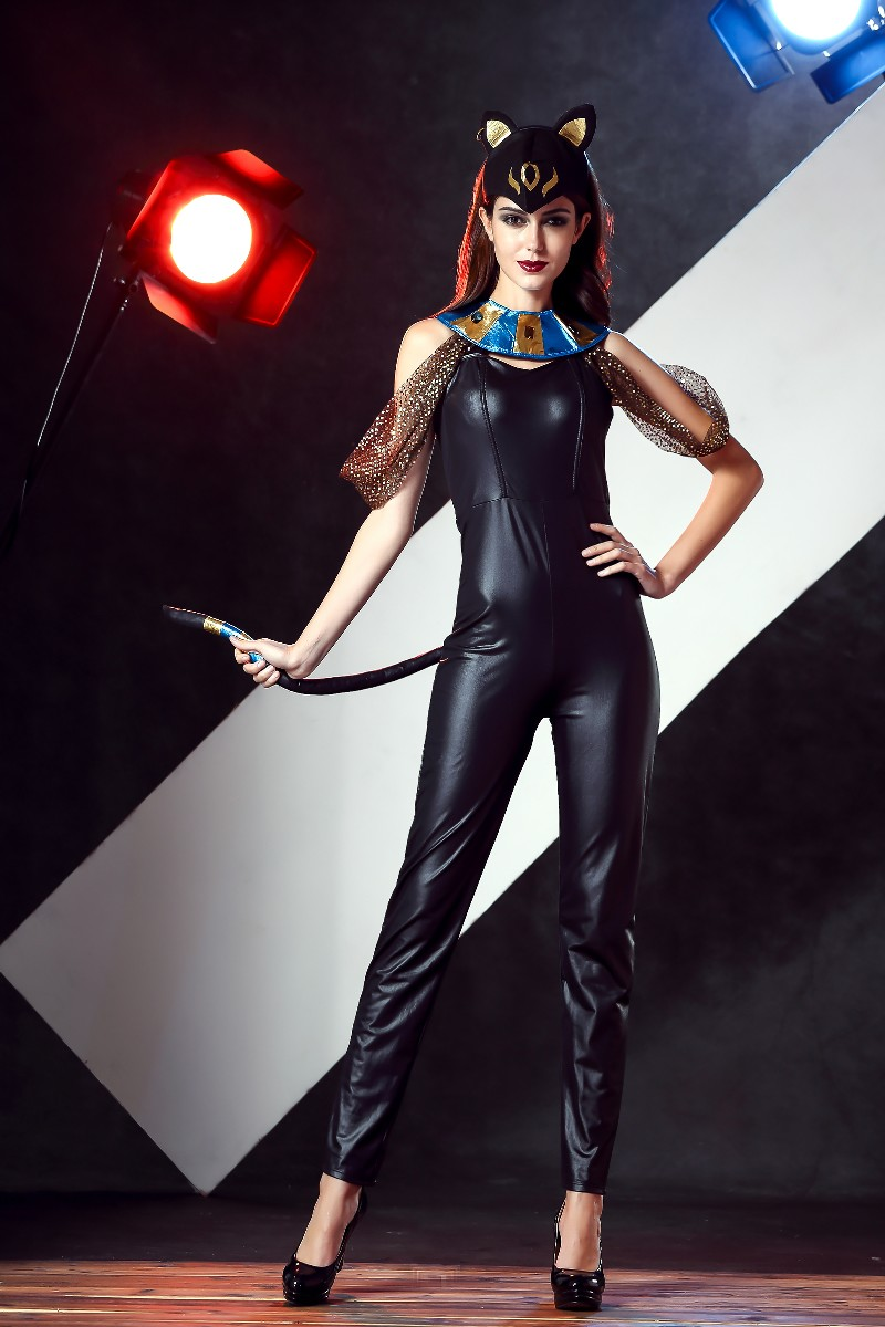 ML5496 Sexy Catlady Long Jumpsuit Costume