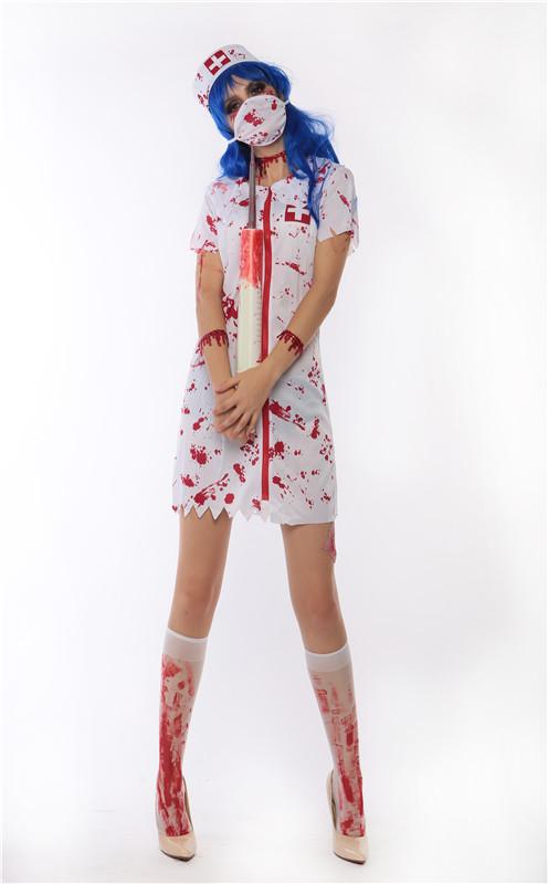 ML5508 Sexy White Nurse Costume For Halloween