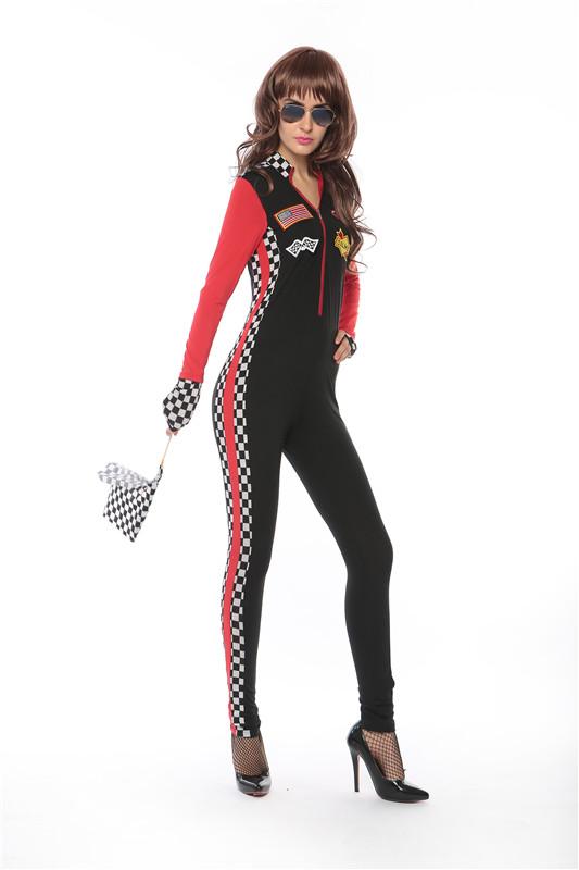 ML5513 Lady Racing Wear Jumpsuit Cosplay