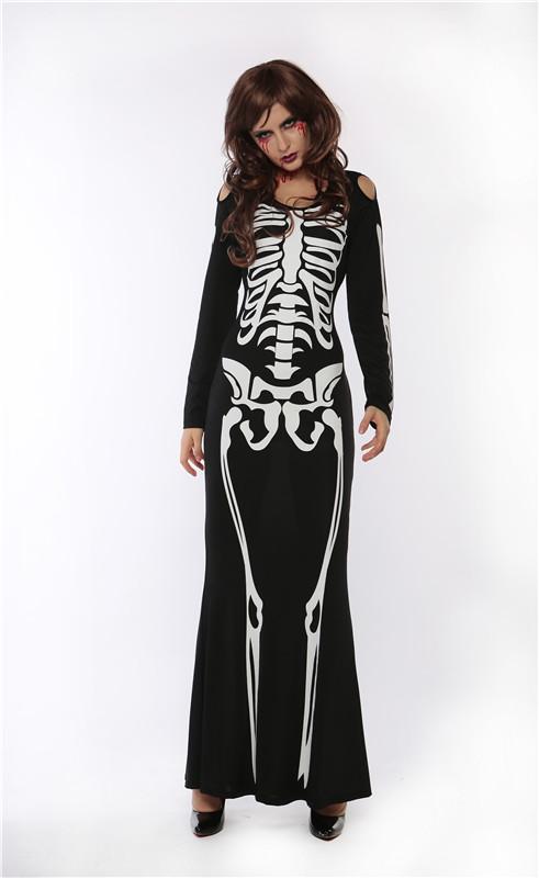 ML5515 Easter Human Skeleton Cosplay Dress