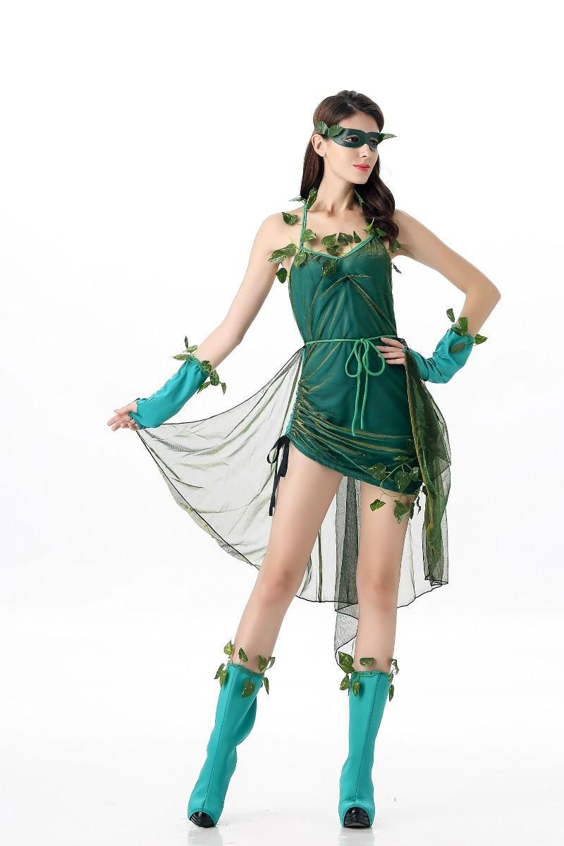 ML5562 Sexy Green Mori Girl Dress Cosplay