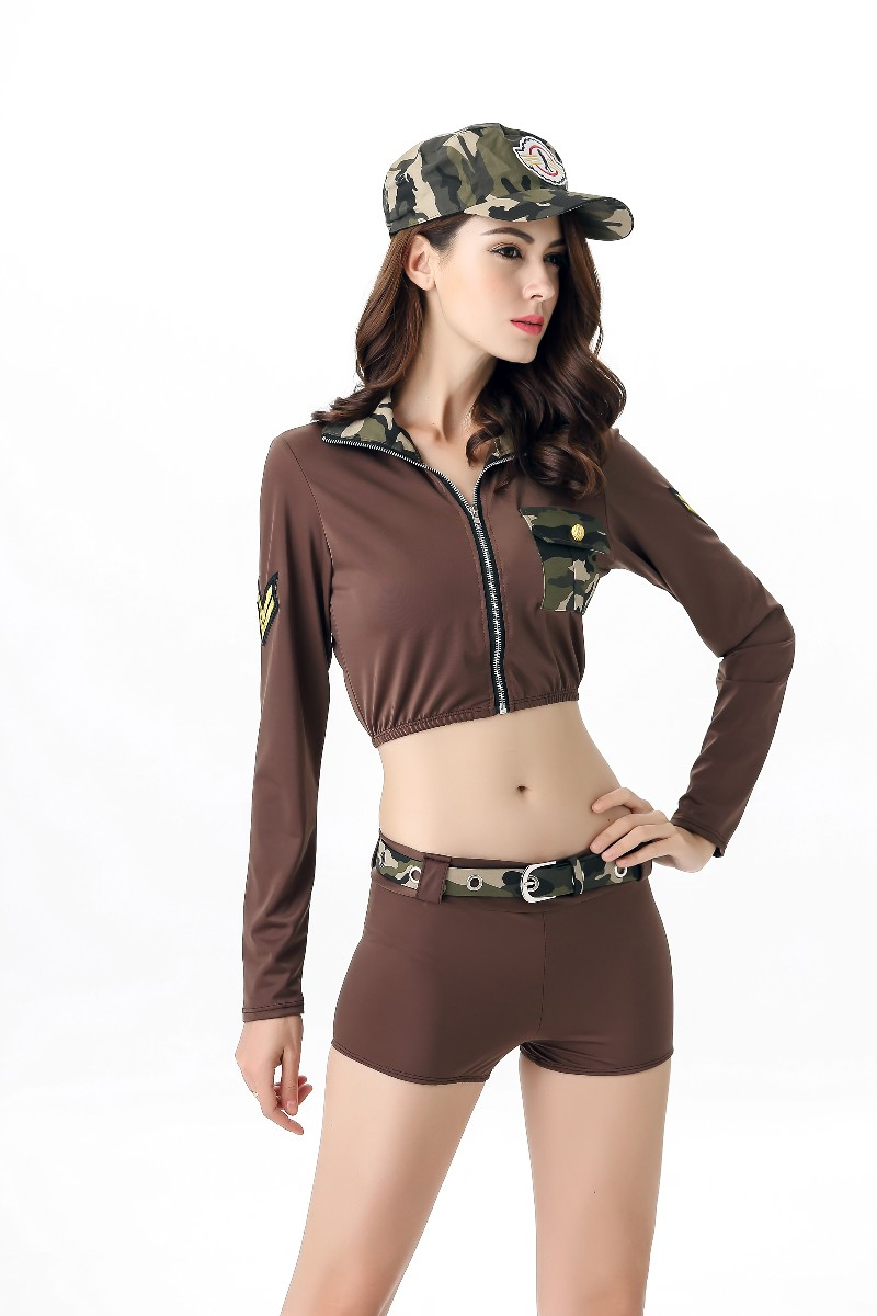 ML5564 Sexy Camo Police Costume For Lady