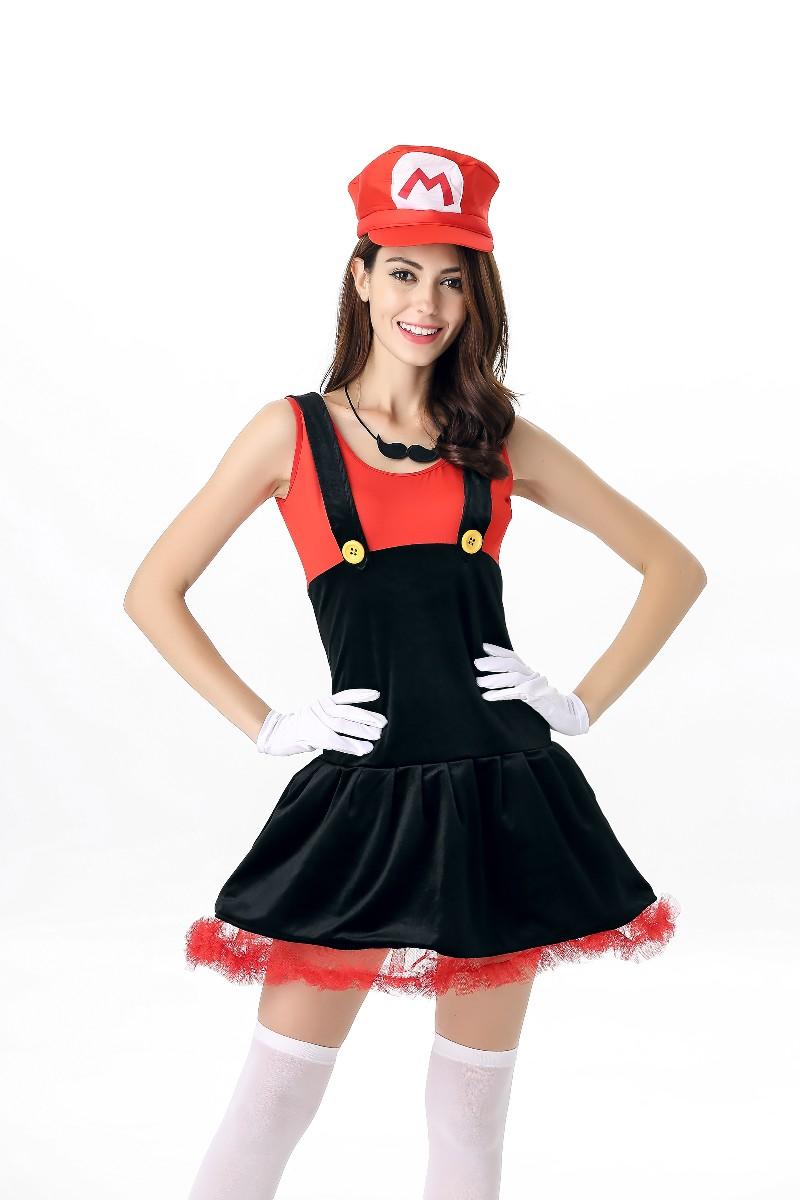 ML5565 Cute Girl Mario Dress Costume