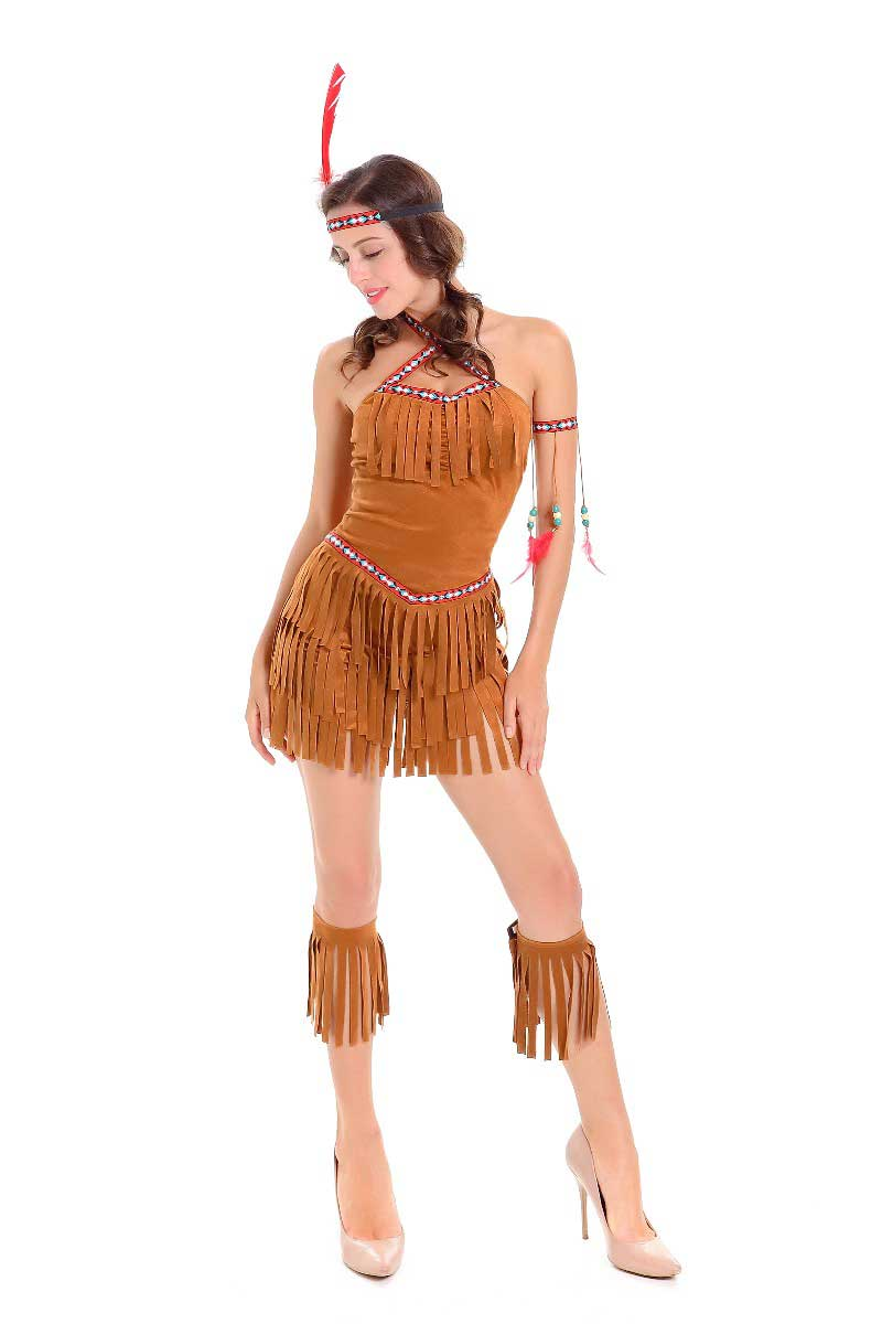 ML5576 Indians Aborigines Fashion Womens Costume
