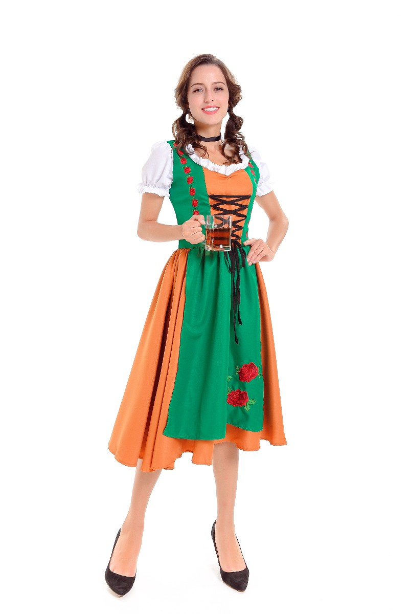 ML5588 Fashion Long Dress For Beer Girl Cosplay