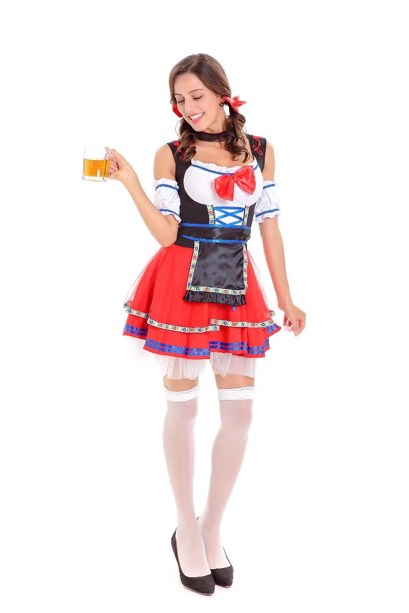 ML5591 Cute Girl Beer Cosplay Women Dress