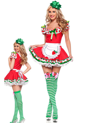 2014 New Arrival ML5386 Strawberry Cute Girl Costumes