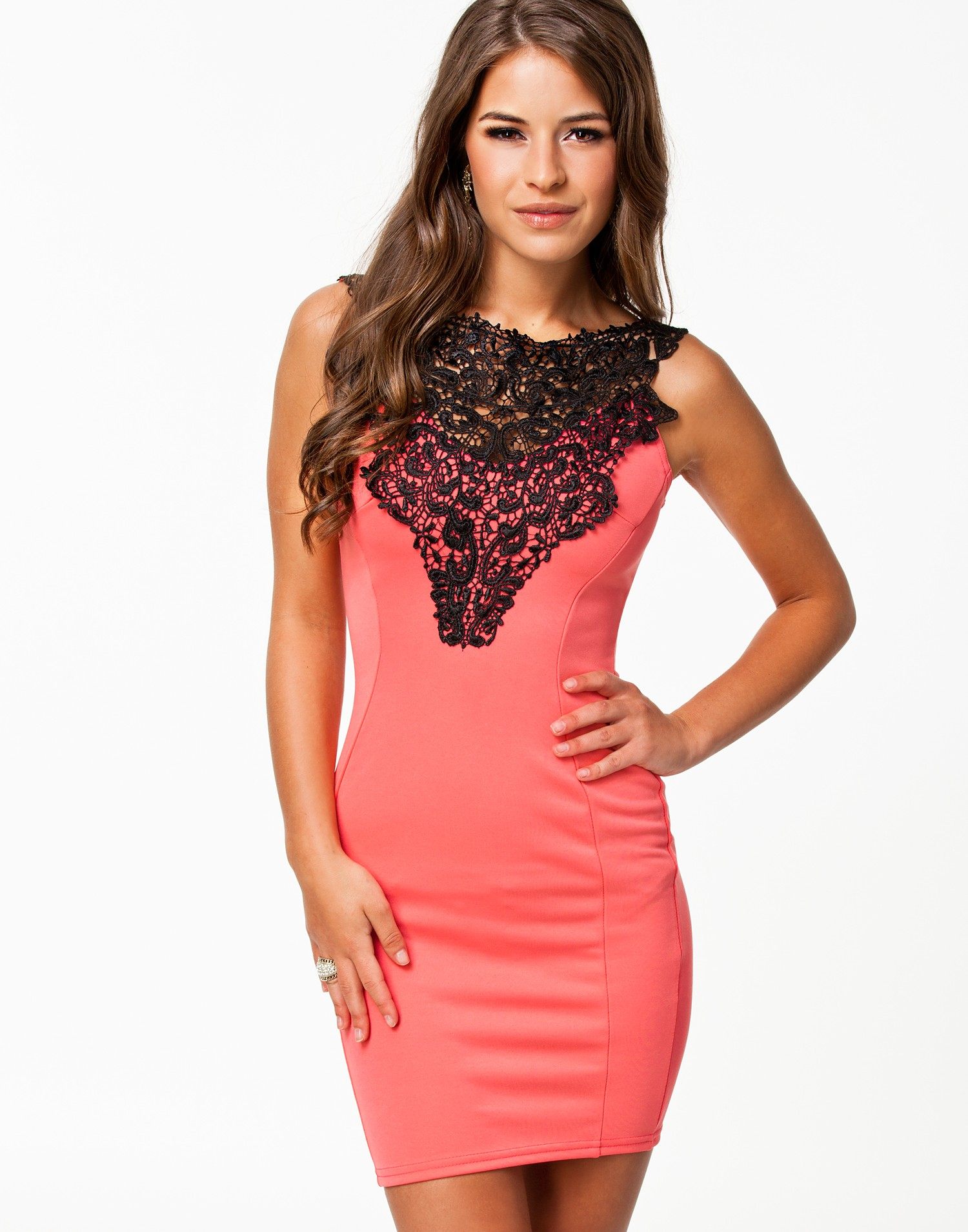 2014 New Hot Pink Bodycon Dress