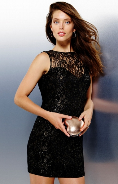 ML18255 High Quality Charming Design Sleeveless Black Color Short Mini Party Dress